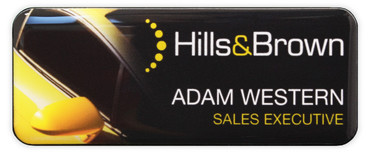 Borderless plastic name badges - Black edge and black background | www.namebadgesinternational.co.uk